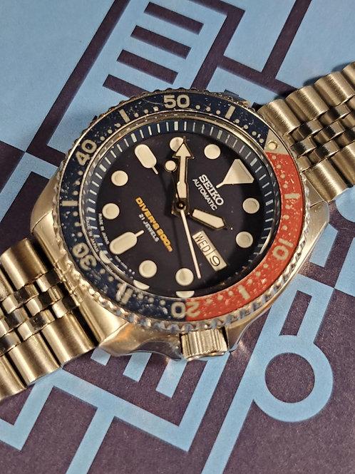 "1997 Seiko ""Pepsi"" 7S26-0020 (SKX009) Automatic Dive Watch, w/Seiko Manual"