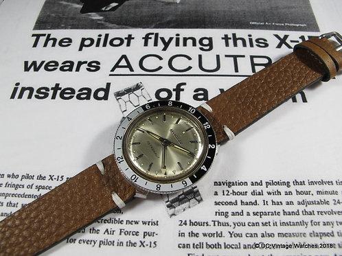 1968 Bulova Accutron Astronaut GMT Electric Watch