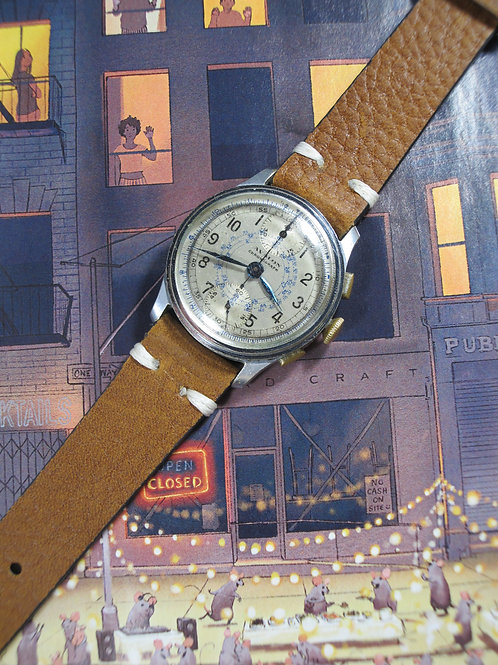 1950s Avalon Watch Company Snail Dial Mechanical Chronograph