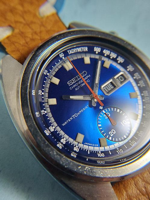 "1971 Seiko 6139-6012 ""Deep Blue"" Automatic Chronograph"