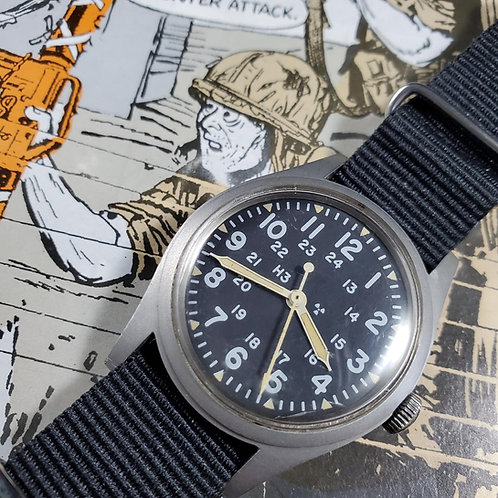 USMIL-Issued Mid-1980s Hamilton MIL-W-46374B Mechanical Watch