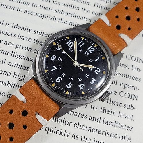 USMIL-Issued 1969 Benrus MIL-W-3818B-spec DTU-2A/P Mechanical Watch