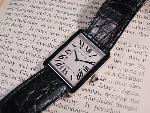 New in Box 2015 Cartier Tank Solo Full Set, with Box, Papers, and Receipt