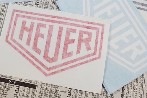 "Heuer 4"" Cut Vinyl Sticker"