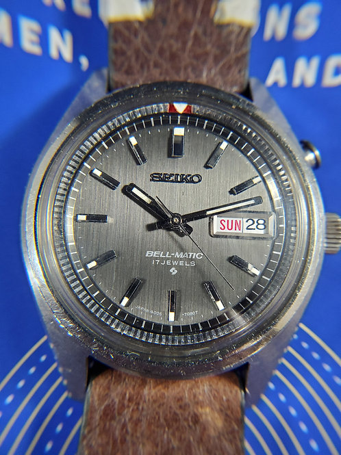1970 Seiko Bell Matic 4006-7028 Alarm Automatic