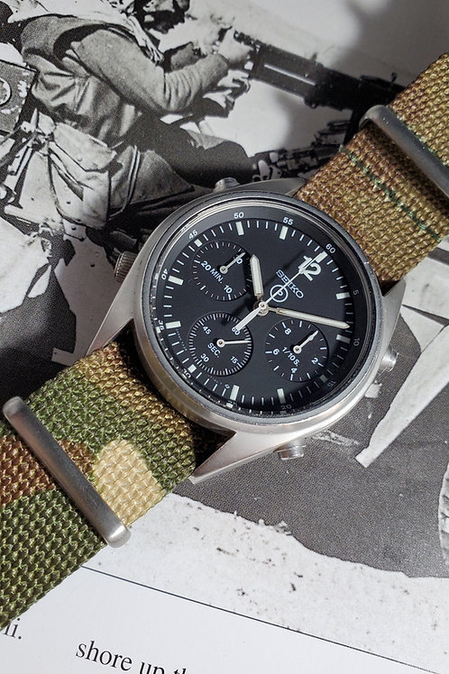1989 Seiko 7A28-7120 UK Royal Air Force-Issued Gen 1 Chronograph