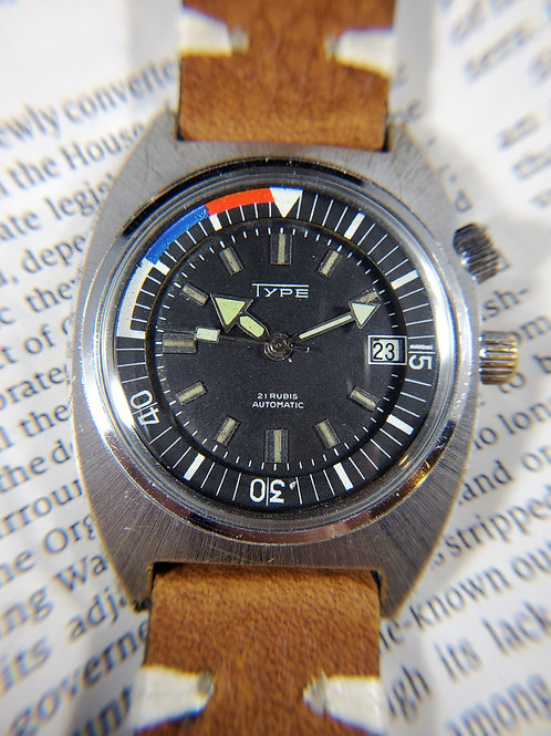 1960's Type Mechanical Dive Watch