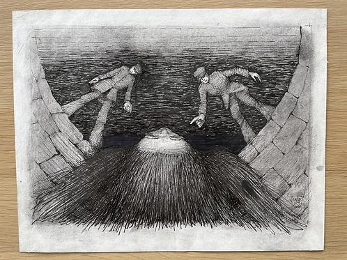 Originele tekening - De herrijzenis van de waarheid