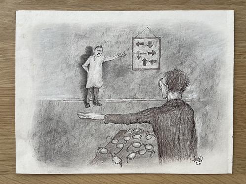 Originele tekening - Myopie