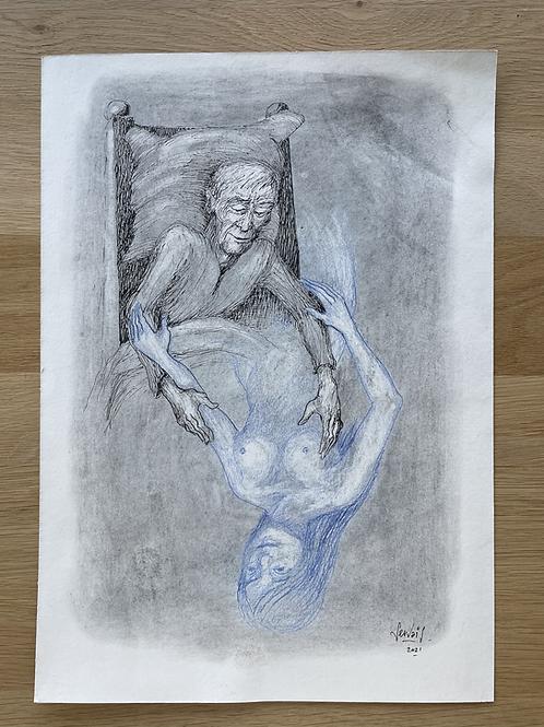 Originele tekening - De laatste droom