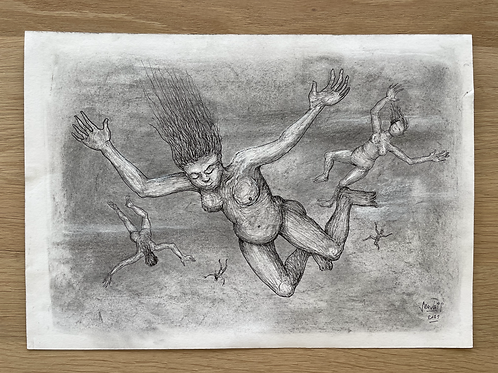 Originele tekening - Maagdenregen