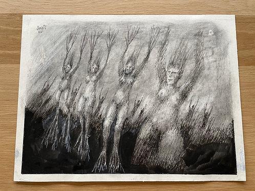 Originele tekening - Célestes racines