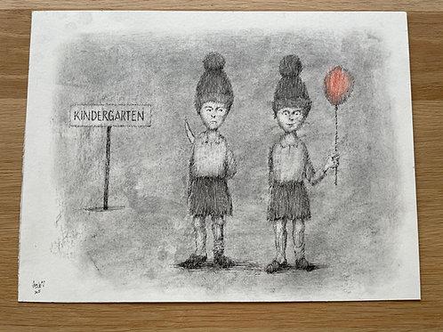 Originele tekening - Kindergarten