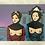 Thumbnail: Inkjetprint NACHTVLINDERS - zittende dames