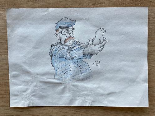 Originele tekening - DUIVEN