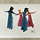 Thumbnail: Inkjetprint NACHTVLINDERS - dansende dames