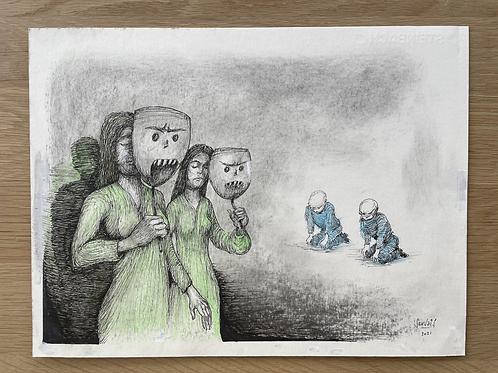 Originele tekening - Ontzag
