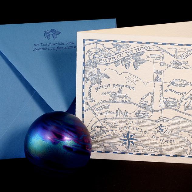 Espirit de Noel / Letterpress Christmas Card