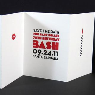 Accordion fold / Letterpress Invitation
