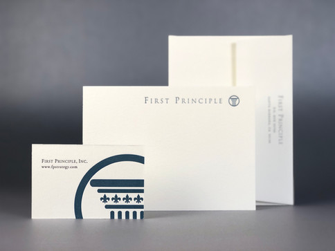 Business Card and Notecard / Printed Letterpress