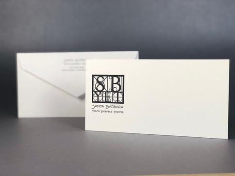 Monarch-sized Notecard / Printed Letterpress