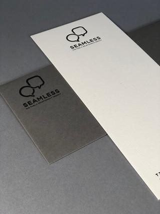 Buckslip-style Notecard / Printed Letterpress
