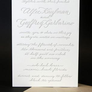 / Printed Letterpress