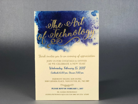 Invitation for Yardi Systems / Gold Foil