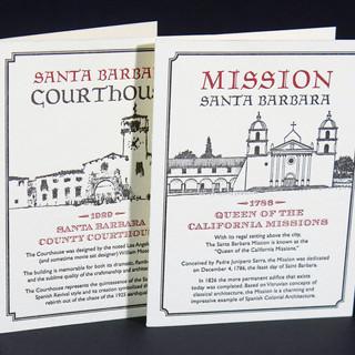 Notecards Featuring Santa Barbara Landmarks