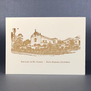 Our Lady of Mt. Carmel, Letterpress Card
