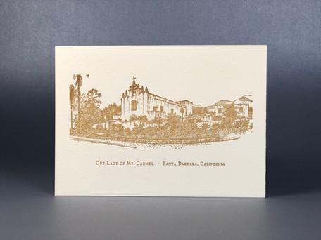 Our Lady of Mount Carmel / Letterpress Notecard