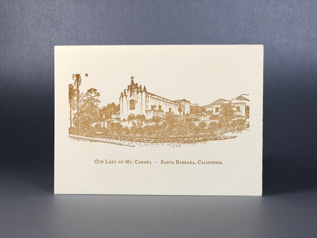 Our Lady of Mount Carmel / Letterpress Notecard