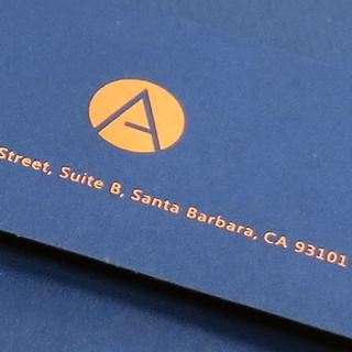 Avalan Envelope / Logo foil stamped in copper