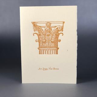 Corinthian Column Letterpress Notecard