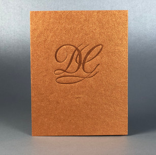 Daniel Gibbing Jeweler, Letterpress Debossed Card