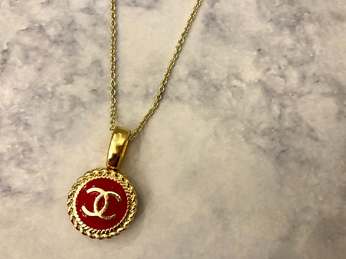 Red & Gold CC Necklace- Rope Design