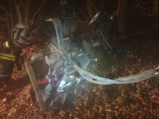 Verkehrsunfall Traktor umgestürzt (T1)