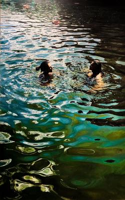 Liz and Emma Hampstead Ponds