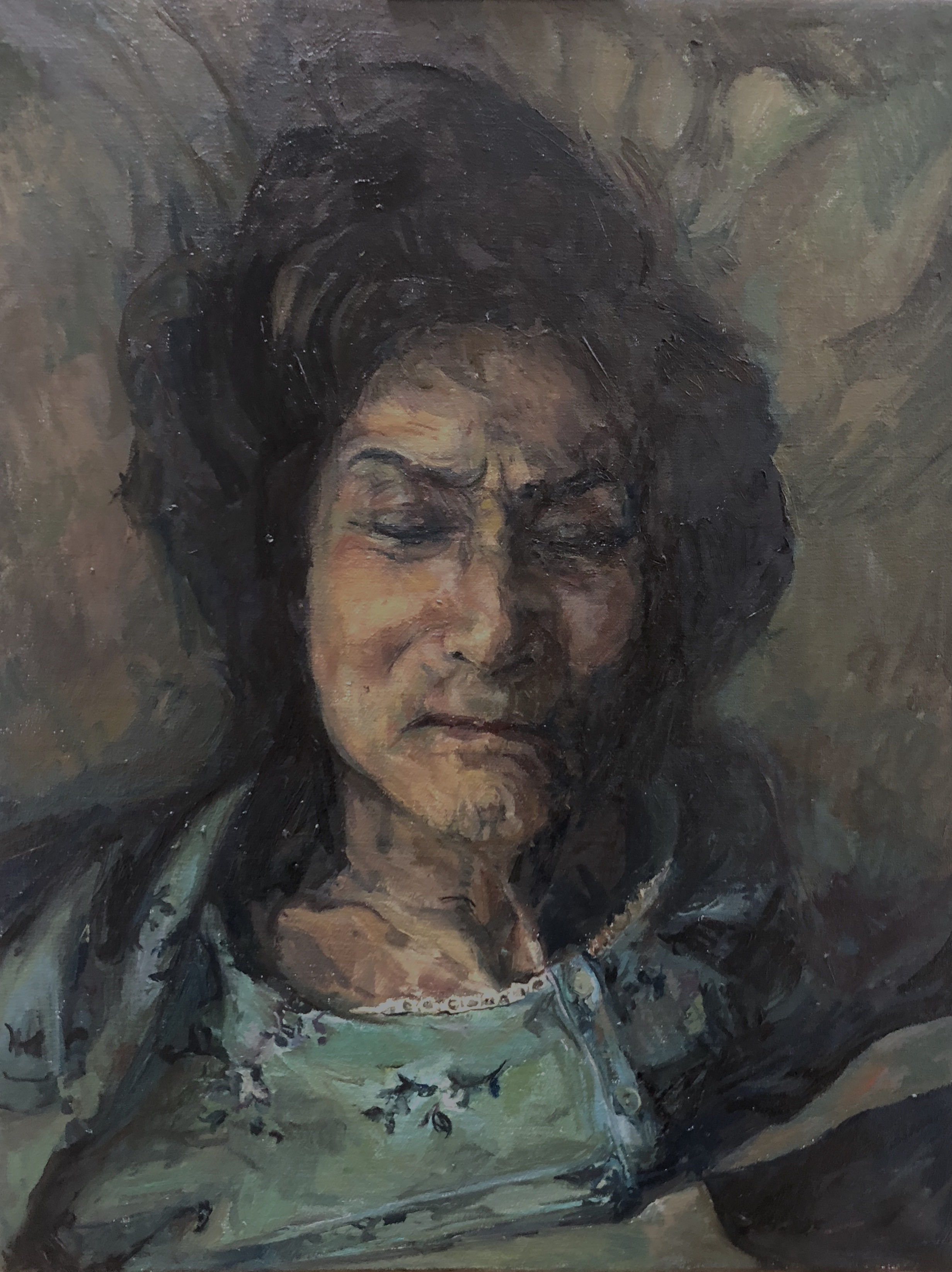 LucilleDweck_MyLateMother_46x36cm_oil on
