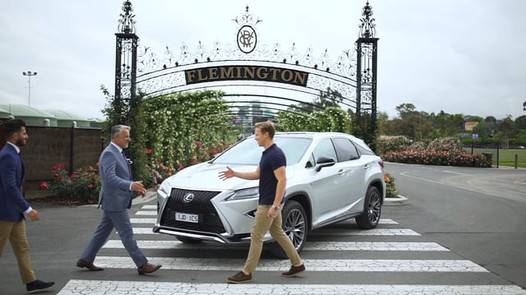 Car pool styling in the Lexus RX 350 Sport for the Melbourne Cup Carnival 2017