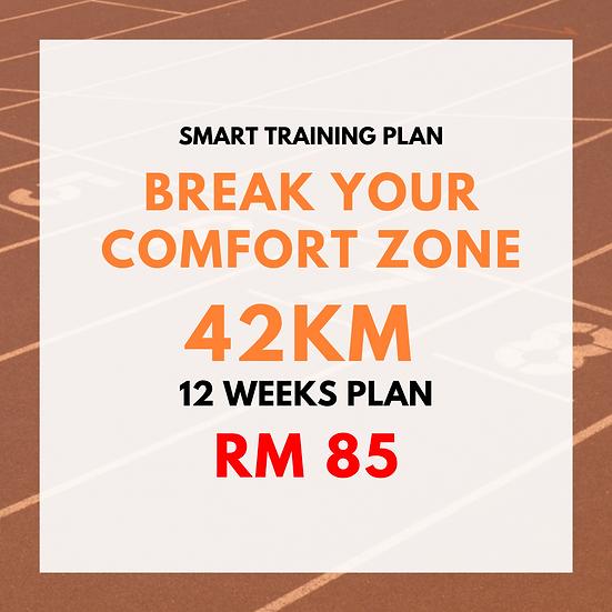 Break Your Comfort Zone | 42km (12 Weeks Plan)