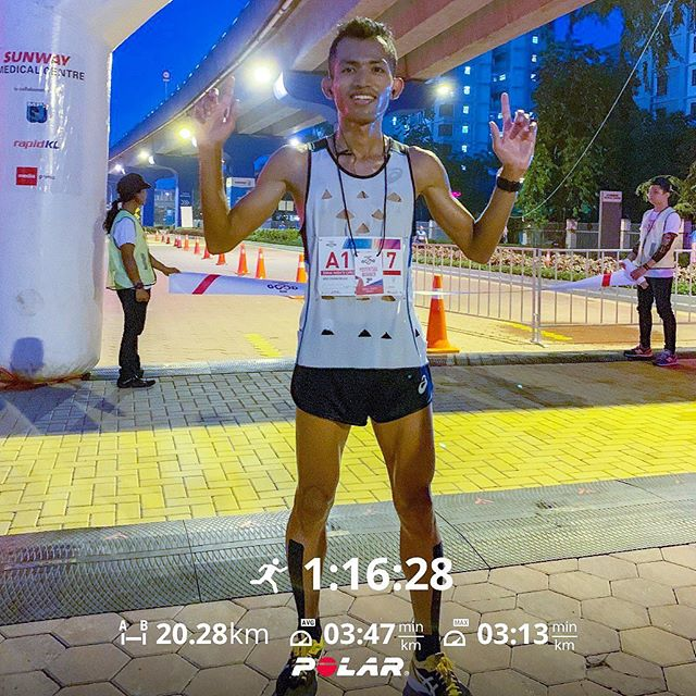20KM (1:16 hours) - Sunway Good Run 2019