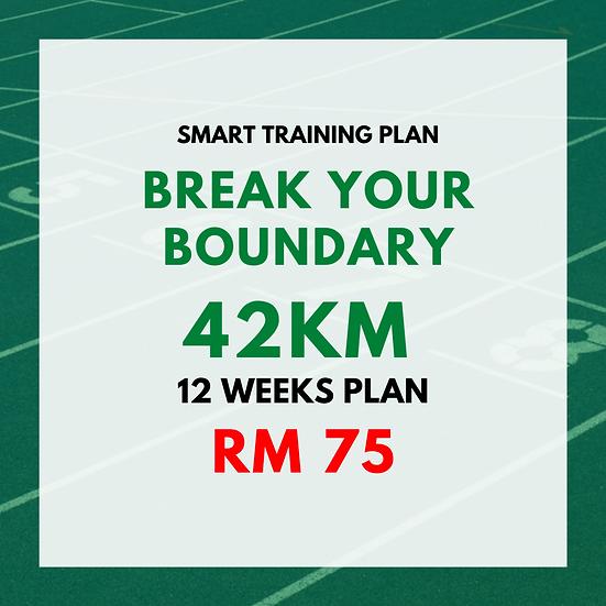 Break Your Boundary | 42km (12 Weeks Plan)