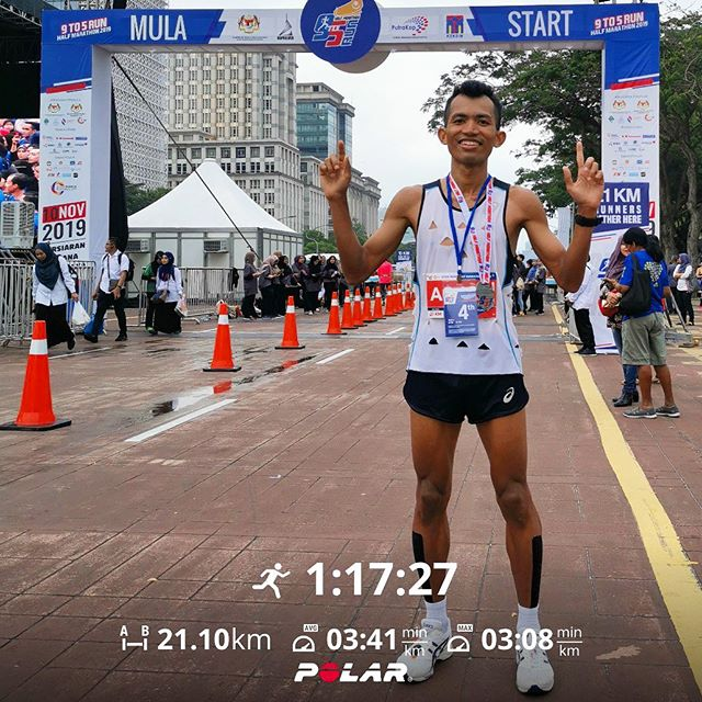 21KM (1:17 hours) - 9to5 Run 2019