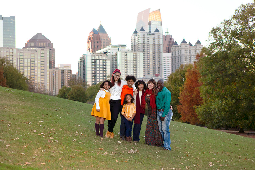 Beautiful Family Portrait Atlanta Skyline