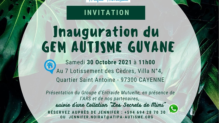 Inauguration du GEM Autisme Guyane