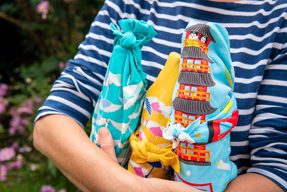 furoshiki gift wrap, fabric wrapping, Japanese wrap, birthday