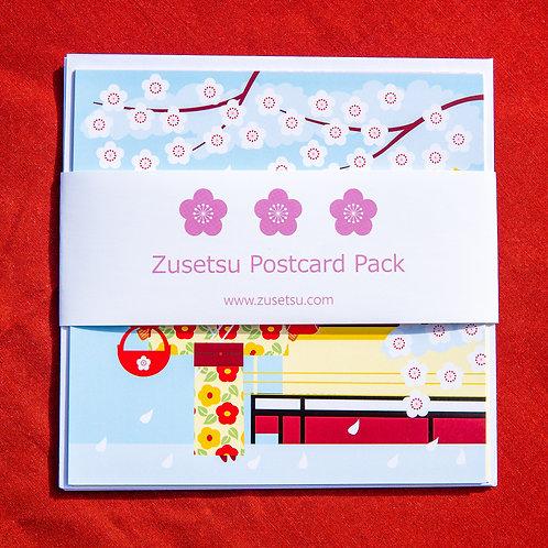 postcard of girl in kimono