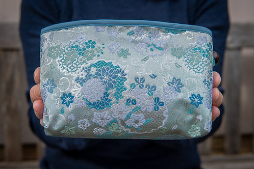 blue pouch front view