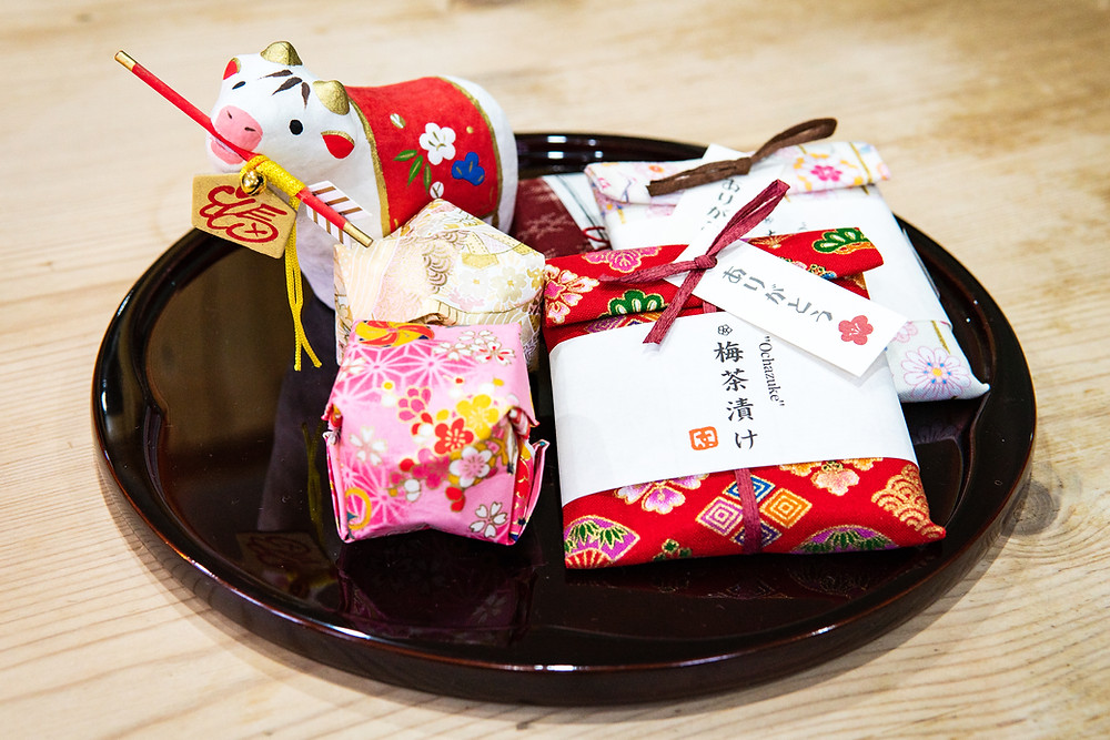 Zusetsu store fabric wrapping Japanese culture origami year of the ox